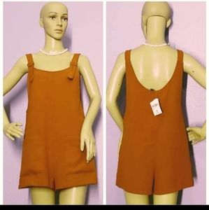 Forever 21 boxy style romper Burnt Sienna